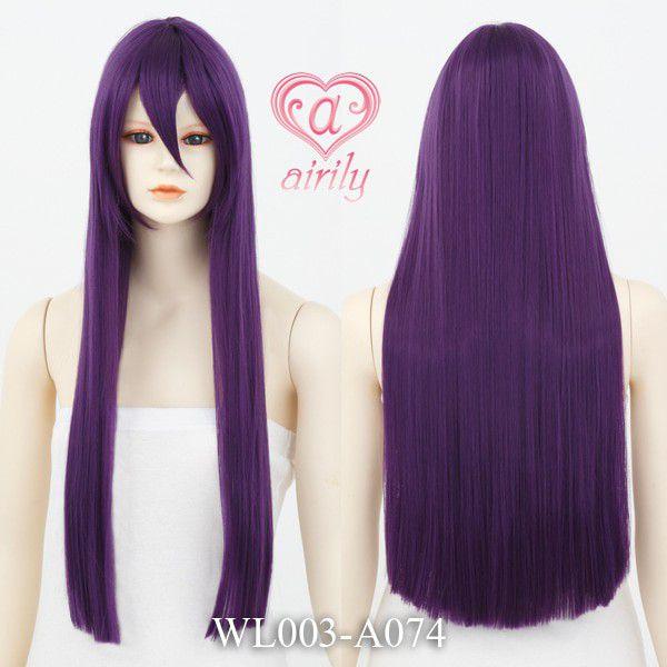 コスプレウィッグ ロング 紫