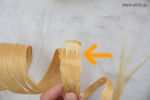 巴マミウィッグ 縦ロール 作り方